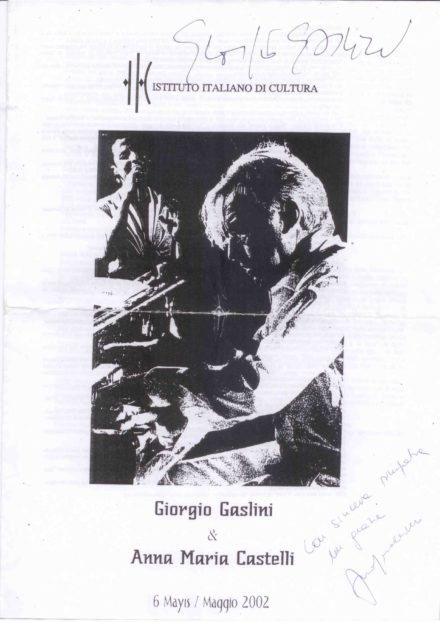 Depliant Istanbul Gaslini Maggio 2002