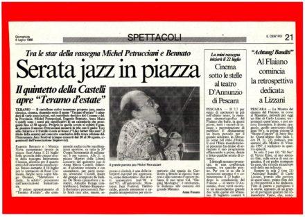 Articolo Il Centro Teramo Concerto Jazz Luglio 1998
