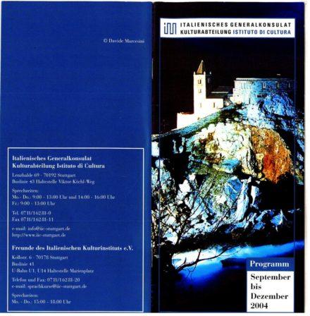 Depliant Stuttgart Ottobre 2004
