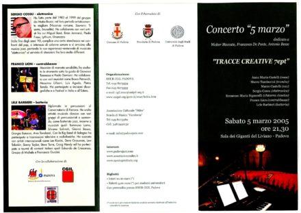 Sala dei Giganti del Liviano Padova Jazz Marzo 2005