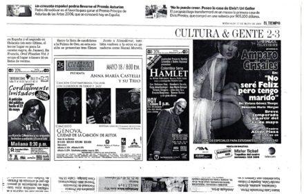 Teatro Colsubsidio Colombia Maggio 2006